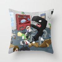 Bad Comma Throw Pillow
