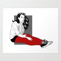 Liv Art Print