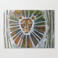 cage-free lion Canvas Print