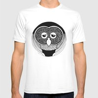 OOwl Mens Fitted Tee White SMALL