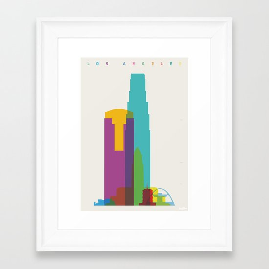Shapes of Los Angeles accurate to scale Framed Art Print