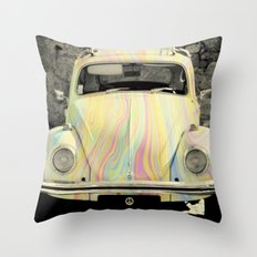 groovy beetle Throw Pillow