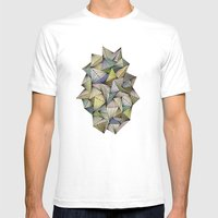 Green Spikes Mens Fitted Tee White SMALL
