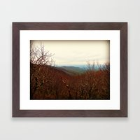 Mountaintop Hideaway Framed Art Print