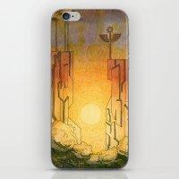 Dawn At Cliffs iPhone & iPod Skin