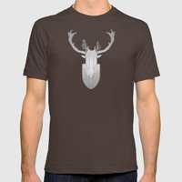 antlers on antlers on antlers Mens Fitted Tee Brown SMALL