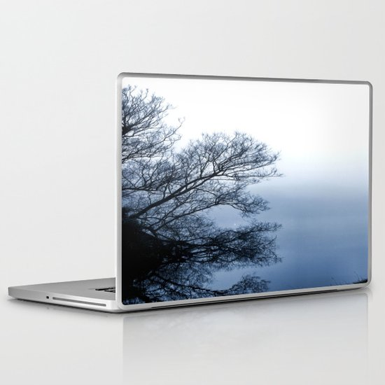 Swans in the Mist Laptop & iPad Skin