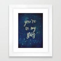 You're In My Stars Framed Art Print