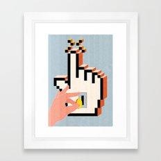 Boosting Clicks Framed Art Print