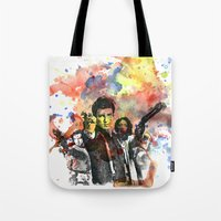 Fire Fly Portrait Tote Bag
