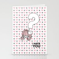 I HateYou / Question Stationery Cards