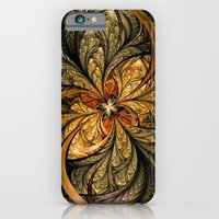 iPhone & iPod Case featuring Shining Leaves Fractal Art by Liz Molnar