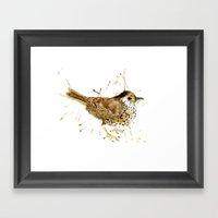 Mr Thrush Framed Art Print