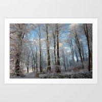 Snowy Winter Forest Art Print