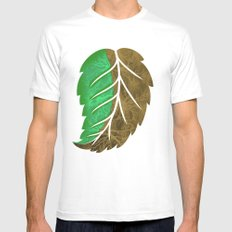 Drying Leaf Mens Fitted Tee White SMALL