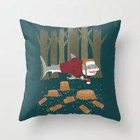 LumberJack Shark Throw Pillow