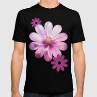 LILAC Mens Fitted Tee Black SMALL