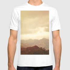 mountains (01) White SMALL Mens Fitted Tee
