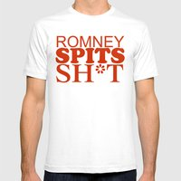 Romney Spits Sh*t Mens Fitted Tee White SMALL