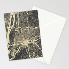 Portland Map Stationery Cards