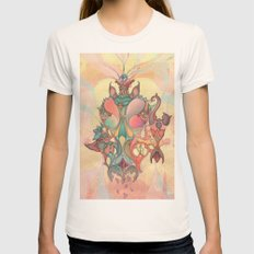The Fountain of Originality Womens Fitted Tee Natural SMALL