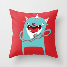 Monster Hearts You! Throw Pillow