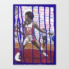 NBA PLAYERS - Julius Erving Canvas Print