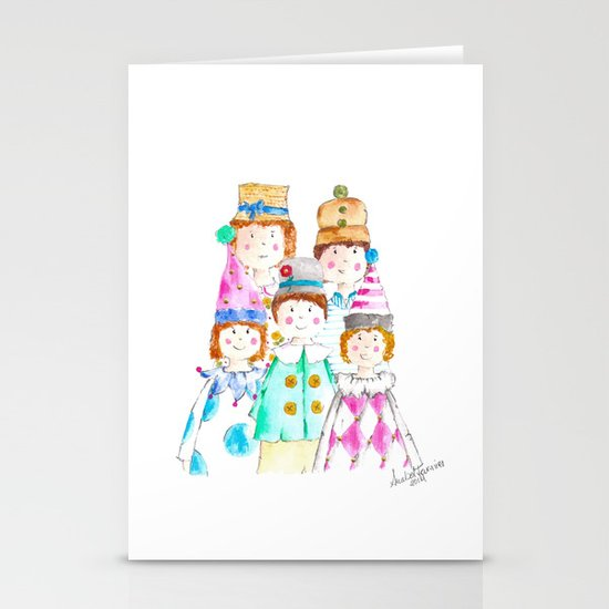 Circus Friends Stationery Card