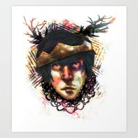 Gleam Diamond Punk King Art Print