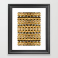 Montana Stripe - Gold Framed Art Print