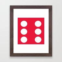 Red Dice 6 Framed Art Print