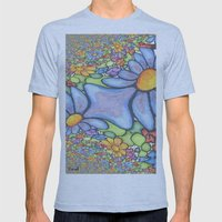 Someone stepped on the Daisies Mens Fitted Tee Athletic Blue SMALL