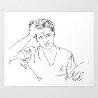 Leonardo DiCaprio Art Print