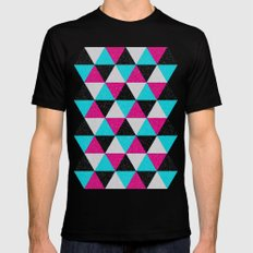Space Triangles Mens Fitted Tee SMALL Black