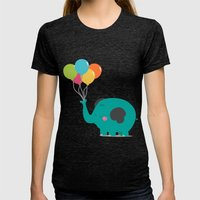 Trompitas Womens Fitted Tee Tri-Black SMALL