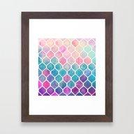 Rainbow Pastel Watercolo… Framed Art Print