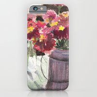 iPhone & iPod Case featuring zinnias at sunset by Kelley Norcross