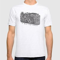 TAKE A PICTURE Mens Fitted Tee Ash Grey SMALL