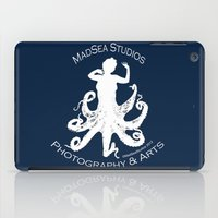 MadSea Nymph, white on blue iPad Case
