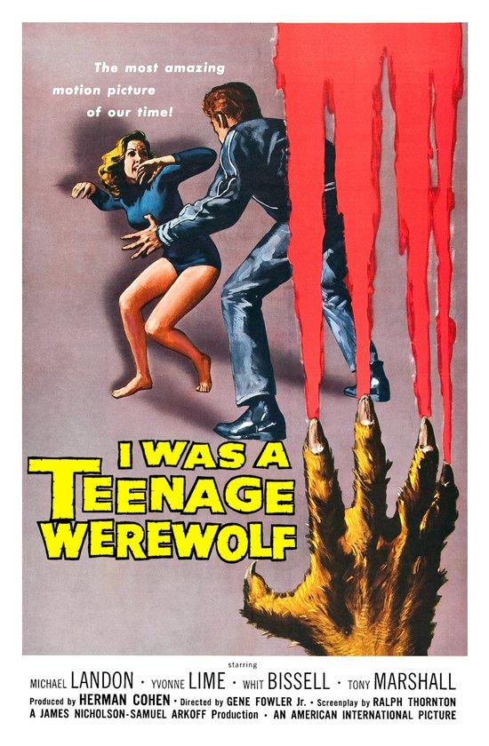 I Was A Teenage Werewolf Art Print
