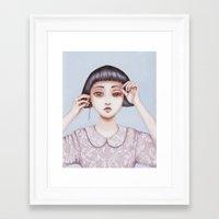 human emotion Framed Art Print