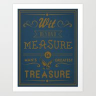 Art Print featuring Wit Beyond Measure Is Ma… by Hi, My Name Is Monic…