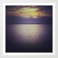 Sunset at Agate Beach Art Print