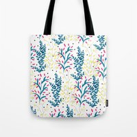 bright flowers. Illustration, pattern, flowers, floral, print,  Tote Bag