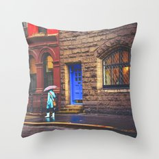 New York City Rainy Afternoon Throw Pillow