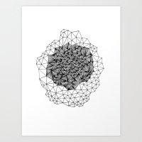 Geode Geometry Art Print