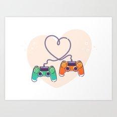 Play Love Art Print