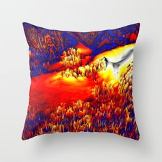 unknown terrain Throw Pillow