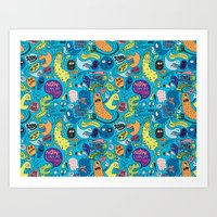 Gettin' Loose Pattern Art Print
