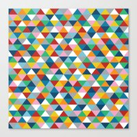 Triangles of Colour Canvas Print